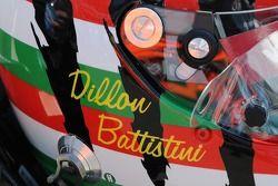 Dillon Battistini's helmet