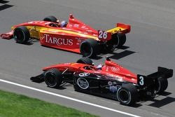 Marc Williams trying to pass Arie Luyendyk Jr.