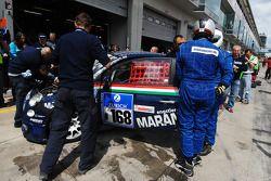 #168 Liqui Moly Team Engstler Fiat 500: Lina van de Mars, Guido Naumann