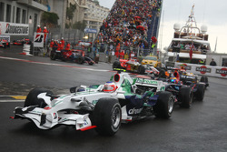 Rubens Barrichello, Honda Racing F1 Team, RA108 ySébastien Bourdais, Scuderia Toro Rosso, STR02