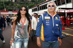 Elisabetta Gregoraci, Wife of Flavio Briatore and Flavio Briatore, Renault F1 Team, Team Chief, Managing Director
