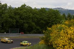 #1 Manthey Racing Porsche 911 GT3 RSR: Timo Bernhard, Marc Lieb, Romain Dumas, Marcel Tiemann, #216 BMW M3: Stefan Widensohler, Nils Reimer, Anette Stringos, Reinhold Renger