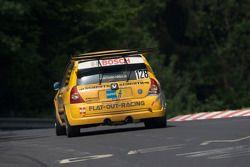 #128 Rheydter Club für Motorsport e.V. Renault Clio: Marc Beckford, Alexander Roth, Christian Mass