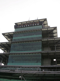 The pagoda still list the top 10 car numbers the morning after the race