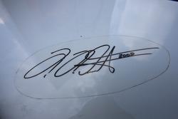 Signature of Heinz-Harald Frentzen on the Gumpert Apollo