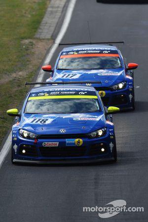 #118 Volkswagen Motorsport VW Scirocco: Thomas Mutsch;Florian Gruber;Jimmy Johansson