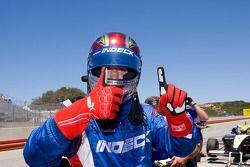 James Hinchcliffe celebrates pole win