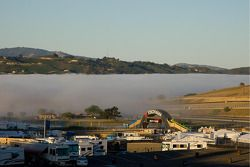 Layer of fog over the race track Sunday morning