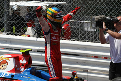 Winner Bruno Senna celebrates