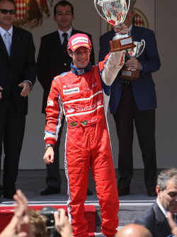 Podium: race winner Bruno Senna