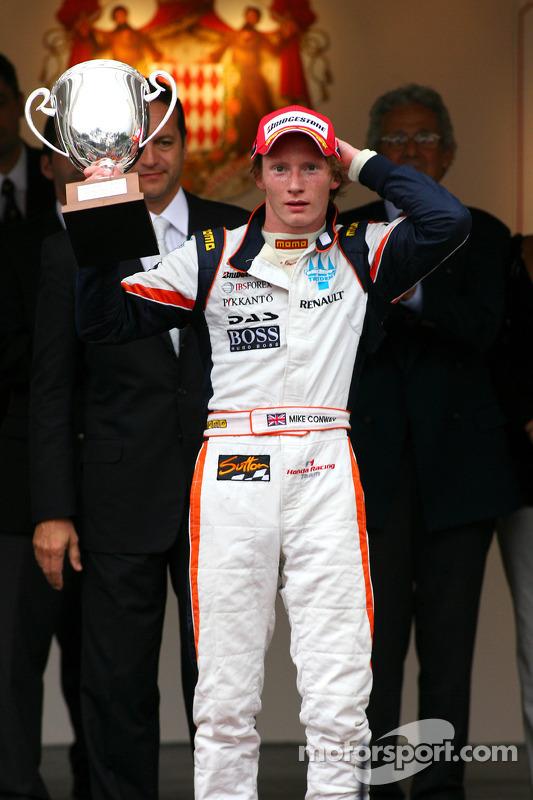 Podium: race winner Mike Conway