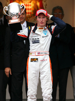 Podium: race winner Mike Conway