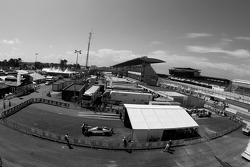 Overall view of scrutineering area