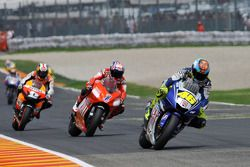 Valentino Rossi, Casey Stoner und Dani Pedrosa