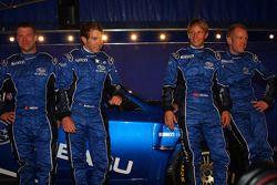 Stéphane Prévot, Chris Atkinson, Petter Solberg and Phil Mills