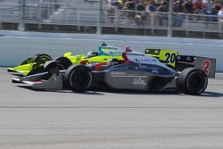 A.J. Foyt IV passing Ed Carpenter