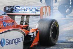 Jaime Camara leaving the pits