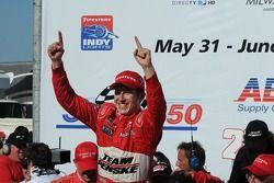 Victory lane: Ryan Briscoe celebrates