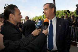 FIA deleguates enter the FIA Place de la Concorde headquarters: Robert Darbelnet, President of the A