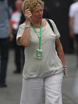Carmen Lockhart, madre de Lewis Hamilton, McLaren Mercedes