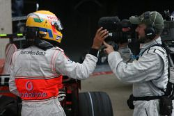Pole winner Lewis Hamilton, McLaren Mercedes