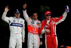 Lewis Hamilton, Robert Kubica, Kimi Raikkonen
