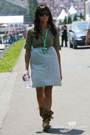 Raquel Rosario, pareja de Fernando Alonso en ese momento