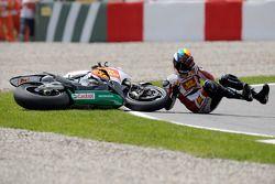 Alex De Angelis crashes