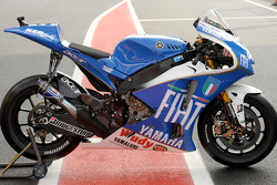Valentino Rossi's Yamaha with the Azurri livery
