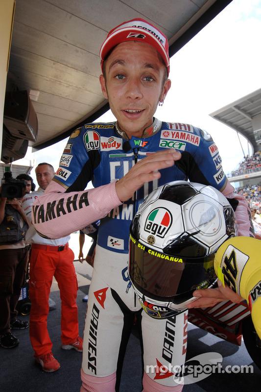Valentino Rossi celebra segundo lugar
