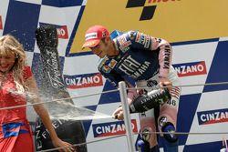 Podio: segundo lugar Valentino Rossi