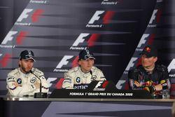 Pressekonferenz: 1.Robert Kubica, 2. Nick Heidfeld, 3. David Coulthard