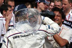 La celebración de la victoria de BMW Sauber F1