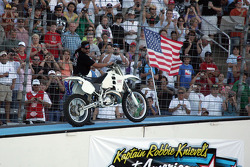 Robbie Knievel's special modified cycle for the Hummer jump