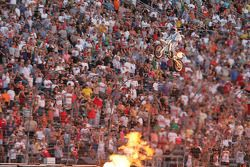 Robbie Knievel soars above the crowd at Texas Motor Speedway