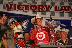 Victory lane: Scott Dixon celebrates