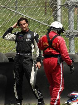 Richard Antinucci escaped the burning #47 Doran Racing Ford Dallara