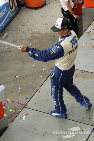 Scott Pruett still was ahead even with the champaign