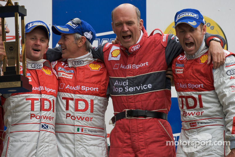 2008: Tom Kristensen, Allan McNish, Rinaldo Capello