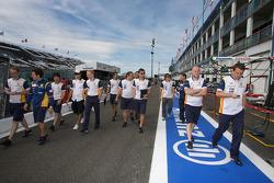 Фернандо Алонсо, Renault F1 Team, Нельсон Пике-мл., Renault F1 Team и другие сотрудники команды Rena