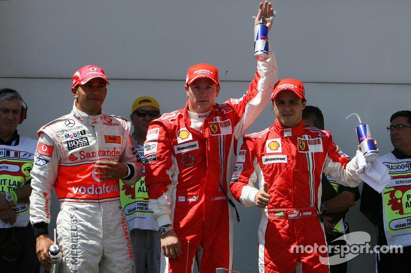 Компанию Кими на первом ряду составил Фелипе Масса. Кто тогда знал, что следующий первый ряд Ferrari завоюет лишь в Сочи в 2017 году. Кто тогда вообще мог представить, что в Сочи приедет Формула 1!