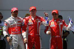 Lewis Hamilton, McLaren Mercedes, Kimi Raikkonen, Scuderia Ferrari, Felipe Massa, Scuderia Ferrari