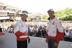 Shinya Nakano y Alex de Angelis