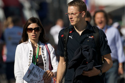 Sébastien Bourdais, Scuderia Toro Rosso, with his wife Claire