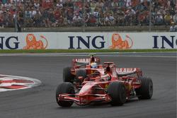 Kimi Raikkonen, Scuderia Ferrari y Felipe Massa, Scuderia Ferrari