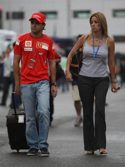 Felipe Massa, Scuderia Ferrari con su esposa Rafaela Bassi