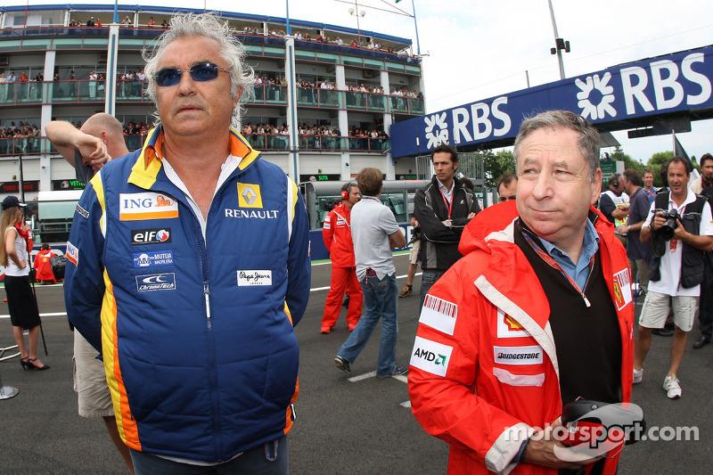 Флавио Бриаторе еще работал в Ф1, а Жан Тодт был всего лишь боссом Ferrari