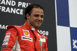 Podio: ganador de la carrera Felipe Massa