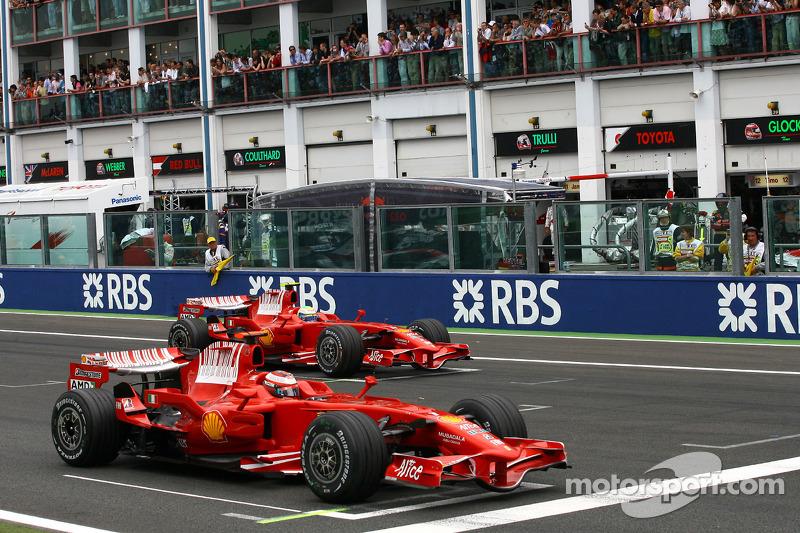 Starting grid: Kimi Raikkonen, Scuderia Ferrari, Felipe Massa, Scuderia Ferrari