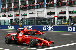 Parrilla de salida: Kimi Raikkonen, Scuderia Ferrari, Felipe Massa, Scuderia Ferrari
